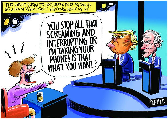 Editorial cartoon (2) Oct. 1, 2020