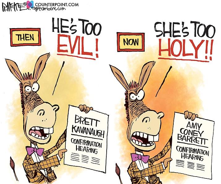 Editorial cartoon (2): Oct. 2, 2020