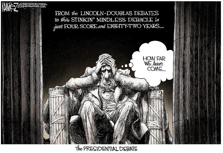 Editorial cartoon (1): Oct. 2, 2020