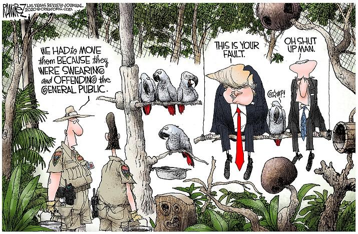 Editorial cartoon (1): Oct. 3, 2020