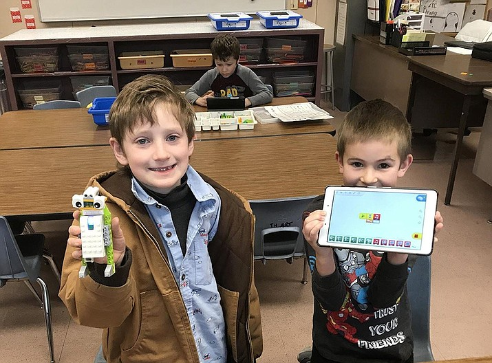 PUSD 2019-20 Lincoln Elementary gifted students (ltor) Leo Staley and Asher Mora. (PUSD/Courtesy photo)
