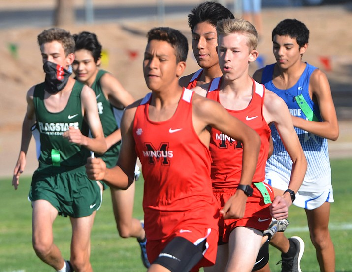 Mingus' Cesar Diaz and Isaac Reynolds ran 1-2 to lead the Marauders to the team title in Saturday's Cross Country Invitational. Diaz, a sophomore, won the boys race in 17:22. VVN/Vyto Starinskas