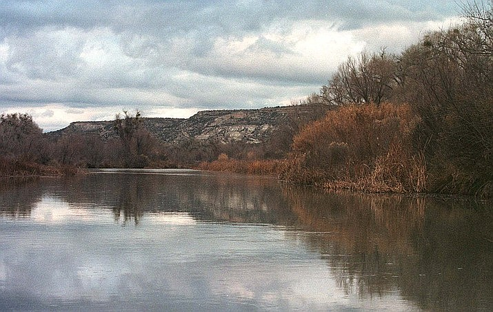 In this Jan. 10, 2001, file photo, the Verde River, one of Arizona's last running rivers, is shown in Camp Verde. The Trust for Public Land and the U.S. Forest Service announced the permanent protection of 84 acres on the upper Verde River by adding the land to the Prescott National Forest. (Jason Wise/AP, file)