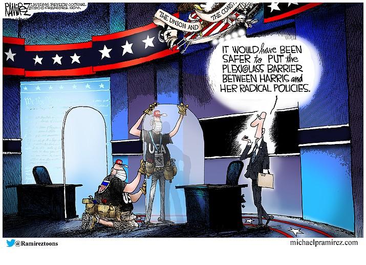 Editorial cartoon (1): Oct. 10, 2020