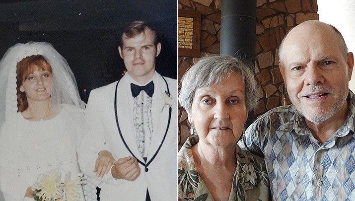Bill and Sandi Cooper were married on Sept. 5, 1970; pictured then and now. (Courtesy)