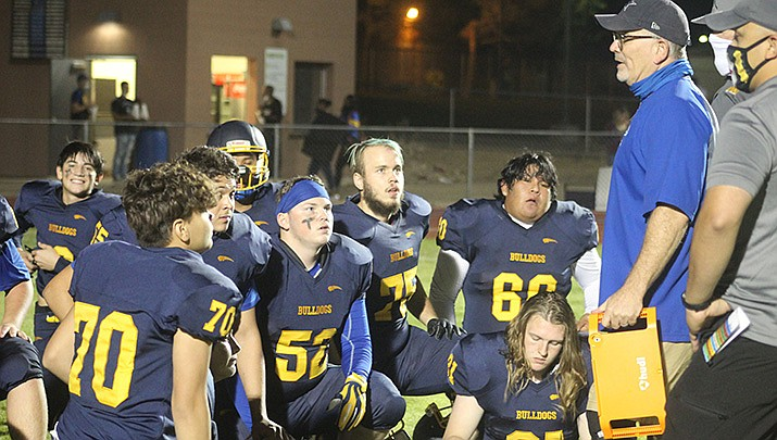 The Kingman High School football team will return home to play Dysart on Friday, Oct. 16, after dropping a 14-8 decision at Chino Valley on Friday, Oct. 9. (Miner file photo)