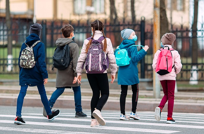 Prescott Valley Police Department officials are reminding residents that on Monday, Oct. 19, the Humboldt Unified School District will resume in-person classes. As children return to school, traffic will increase on the roadways and include pedestrians and vehicles. Children will be walking to bus stops while it is still dark outside. (Courier stock photo)