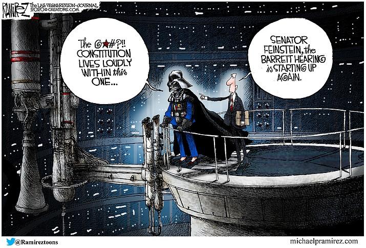Editorial cartoon (2): Oct. 14, 2020