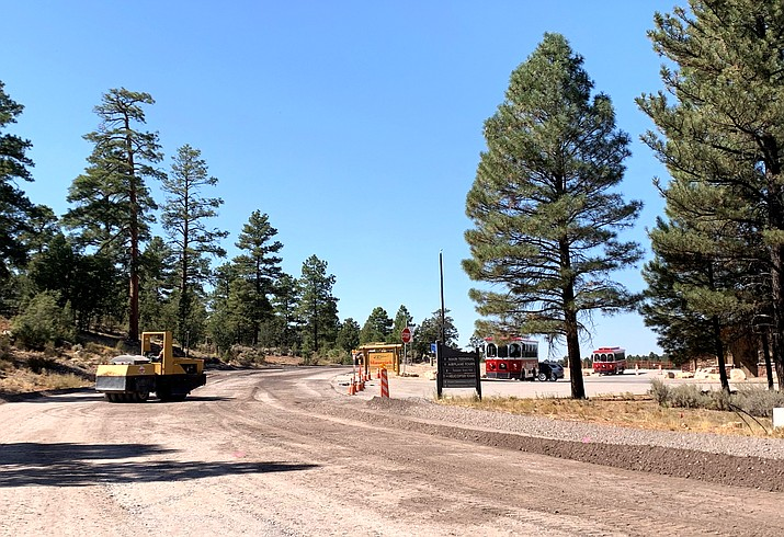 Grand Canyon Airport road system receives new pavement with a $5.1 million Federal Aviation Administration Improvement grant and Arizona Department of Transportation funds. ADOT's portion of the cost is $625,000. (Loretta McKenney/WGCN)