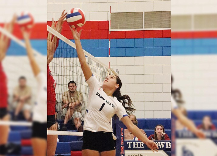 Thursday, Camp Verde volleyball hosts Chino Valley at 6 p.m. Pictured, senior Paige Seneca, who leads the Lady Cowboys with 40 assists on the season. Photo courtesy Tina Scott, Camp Verde High School