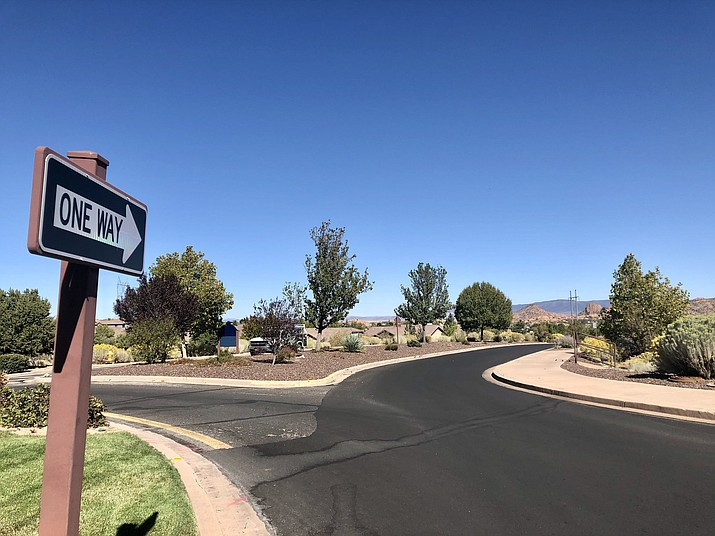 A recent pavement job on Smoke Tree Lane, between Prescott Lakes Parkway and near the entrance to the Prescott Lakes Clubhouse, has generated dozens of complaints about the smoothness of the surface. This week, the Prescott City Council approved spending $183,638 to fix the problem. (Cindy Barks/Courier)