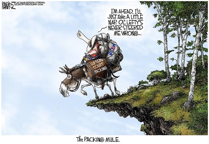 Editorial cartoon (1) Oct. 16, 2020