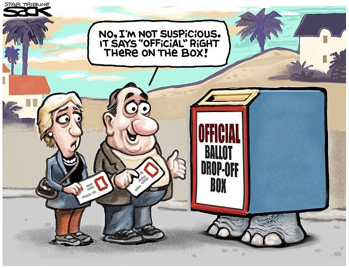 Editorial cartoon (2): Oct. 17, 2020
