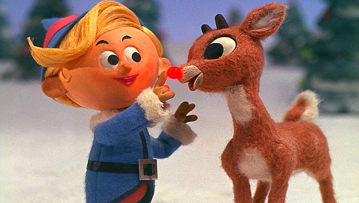 "The figures used in the stop-motion animation Christmas classic ""Rudolph the Red Nosed Reindeer"" will be sold at public auction. (Screen shot by Rankin Bass/Public domain)"