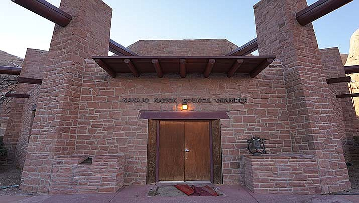 A federal appeals court on Thursday, Oct. 15 rejected an attempt to allow an extra 10 days to count votes on the Arizona portion of the Navajo Nation's reservation after the Nov. 3 election. The tribal council chambers are shown above. (Photo by Steven Baltakatei Sandoval, cc-by-sa-4.0, https://bit.ly/2YQOXz8)