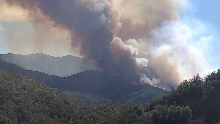 The Horse Fire broke out Thursday near Crown King, Arizona, a town just south of Prescott. Its cause is under investigation. (U.S. Forest Service)