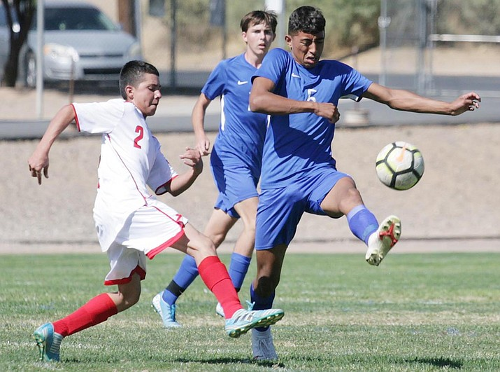 Camp Verde's Kiki Noguez goes for the ball on Saturday, Oct. 17 at home against Willcox. Camp Verde beat Willcox 4-1 at Sam Hammerstrom Field. VVN/Bill Helm