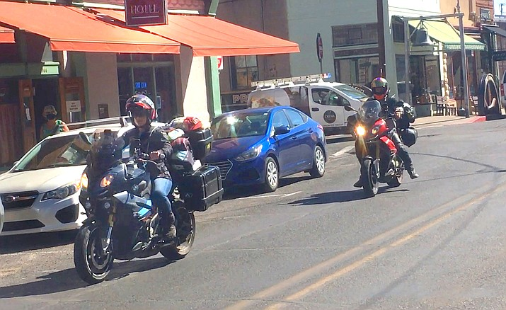 Some residents in Jerome are complaining about the noise from ATVs and motorcycles going through town on State Route 89a and on residential streets. VVN /Vyto Starinskas