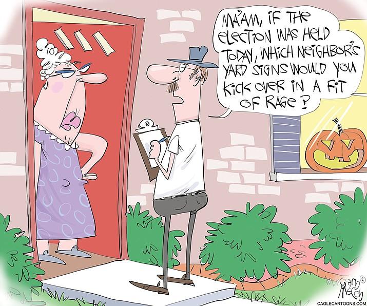Editorial cartoon (1): Oct. 22, 2020