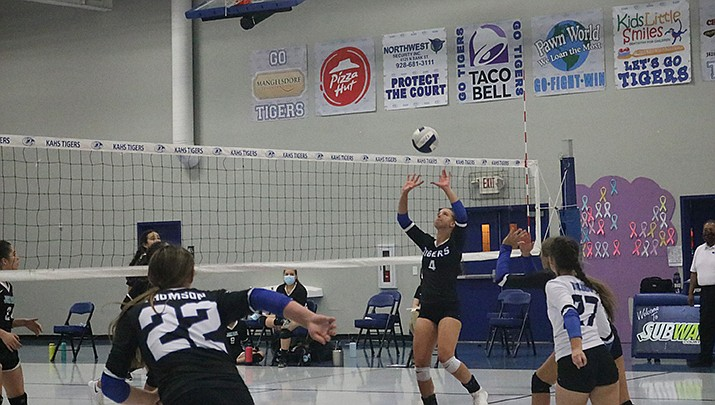 the Kingman Academy High School girls volleyball team logged a 3-0 win over Heritage Academy on Tuesday, Oct. 20. (Miner file photo)