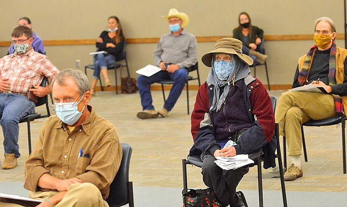 Dozens of Verde Valley residents, many from Cornville, attended Thursday's hearing on the City of Cottonwood's proposed annexation of Spring Creek Ranch. VVN/Vyto Starinskas VVN/Vyto Starinskas