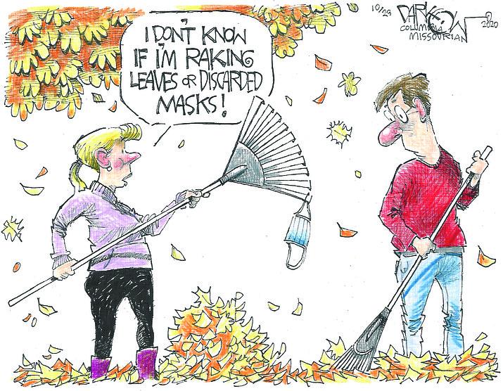 Editorial cartoon (1): Oct. 24, 2020