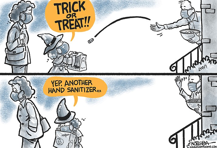 Editorial cartoon (2): Oct. 24, 2020