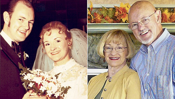 """Karen Anderson and Philip """"Jack"""" Buta were married at Holy Trinity Lutheran Church in Lombard, Illinois, on Oct. 31, 1970. (Courtesy)"""