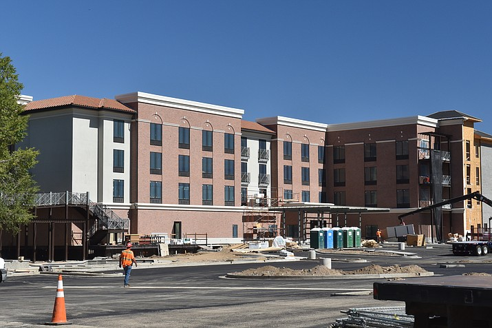 Hilton Garden Inn Prescott Downtown, originally scheduled to open this month, plans to celebrate its grand opening on Monday, Jan. 4, 2021, instead. (Jesse Bertel/Courier)