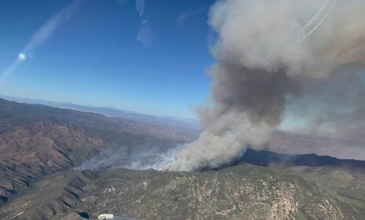 Southwest Incident Management Team 2 is transferring the Horse Fire, burning near Crown King, south of Prescott, back to Prescott National Forest on Monday. The fire is 74% contained, according to Sunday's news release from the team. It is now 9,537 acres. Courtesy of U.S. Forest Service