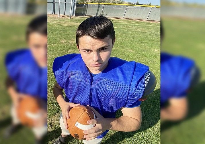 Camp Verde junior quarterback Garrett Dulaney ran for 29 yards and one touchdown in Camp Verde's 37-6 loss at Scottsdale Christian on Friday, Oct. 23. On Oct. 30, Camp Verde plays at Scottsdale Preparatory Academy. VVN/Bill Helm