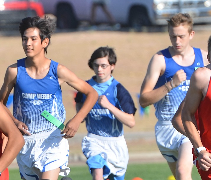 With five runners among the top 18 finishers, the Camp Verde boys cross country team was a decisive winner in the open division of the Holbrook Invitational Friday. VVN/Vyto Starinskas