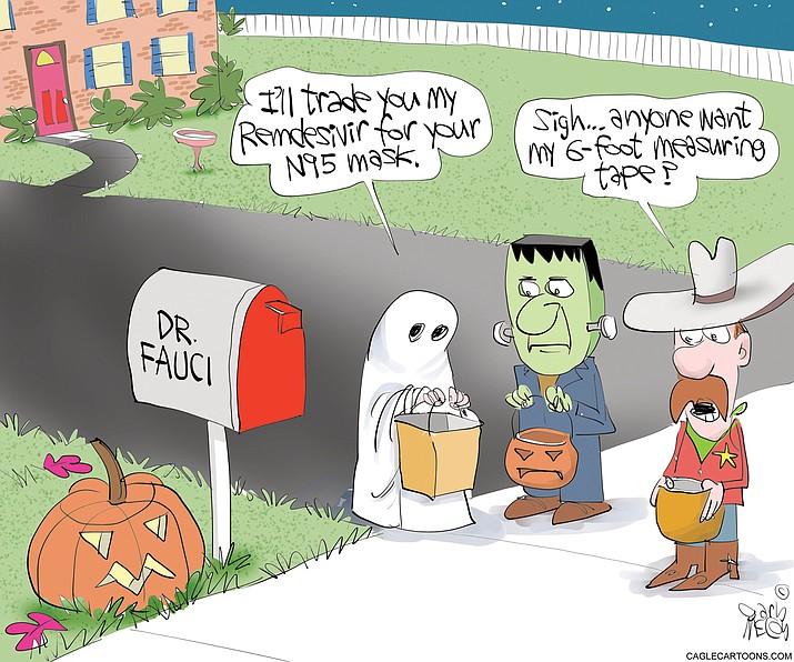Editorial cartoon (1): Oct. 29, 2020
