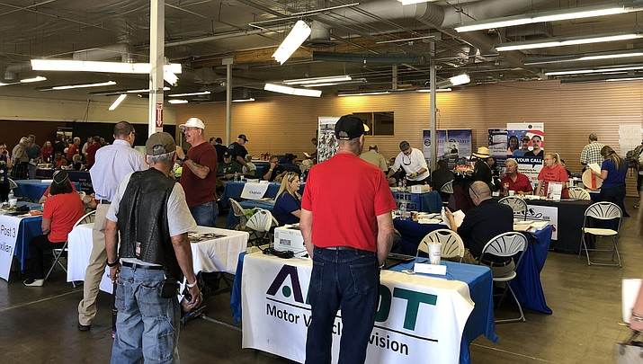 In this file photo, veterans attend last year's Stand Down event. This year's event will be  Nov. 12-14 at the Grace Sparks Activity Center, 824 E. Gurley St. in Prescott. (Courier file)