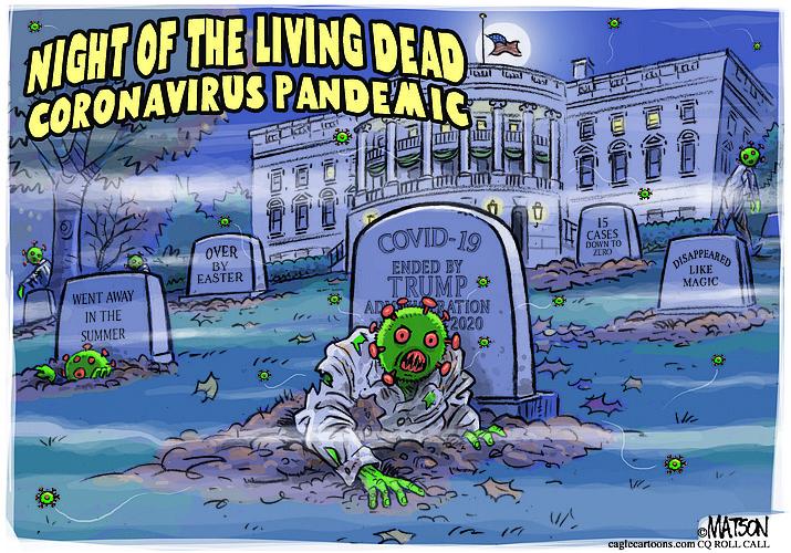 Editorial cartoon (2): Oct. 31, 2020