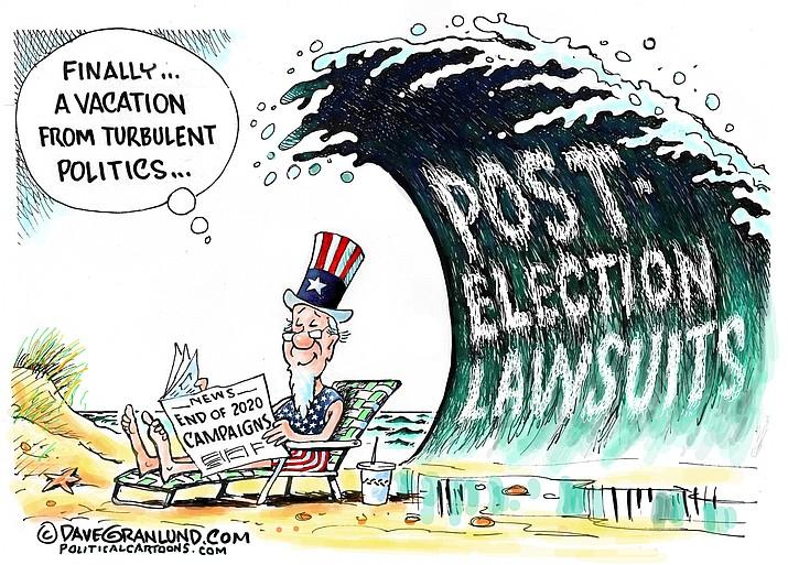 Editorial cartoon (2): Nov. 1, 2020
