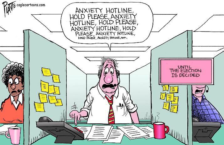 Editorial cartoon (2): Nov. 2, 2020