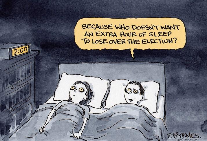 Editorial cartoon (1): Nov. 2, 2020