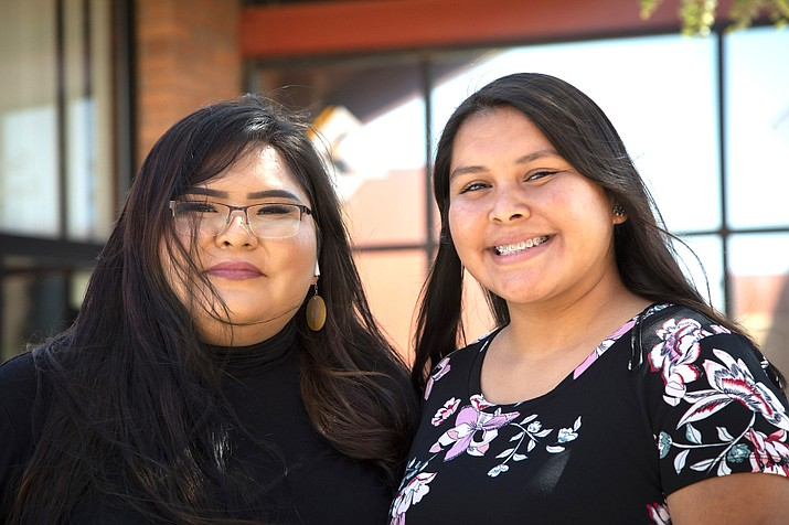 Sisters Teneesha (left) and Lakeesha Todacheene of Page, Arizona plan to reach their dreams of becoming nurses with the help of scholarships from the Coconino Community College Foundation. (Photo/Coconino Community College)