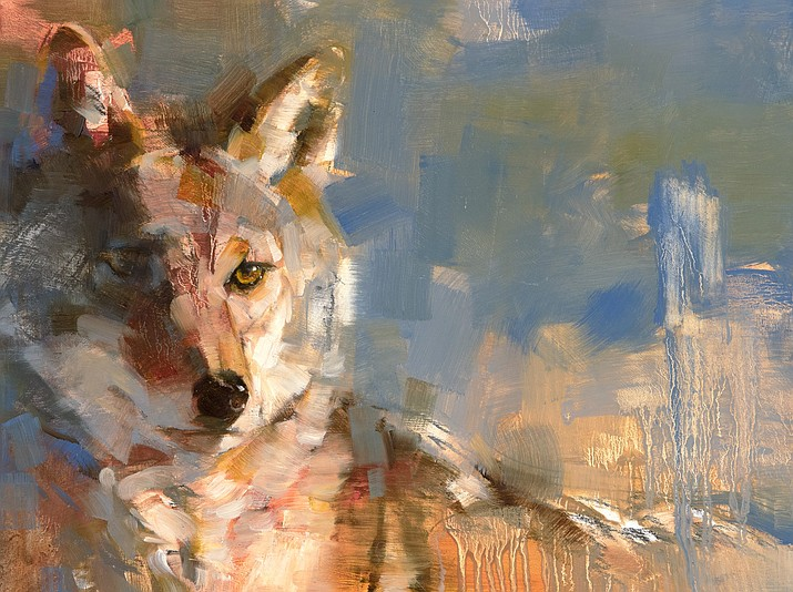 """Trick of the Light #3by Julie T. Chapman, oil on panel, 9""""H x 12""""W."""