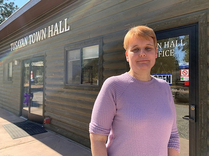 Tusayan Town Manager Charlie Hendrix and her family contracted the coronavirus in October. They have all made a successful recovery. (Loretta McKenney/WGCN)