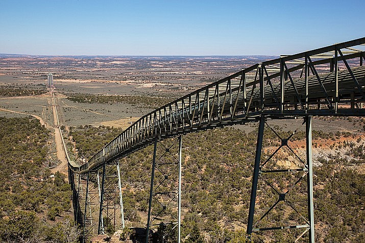 For 50 years, the Kayenta Mine on Black Mesa supplied coal to fire the Navajo Generating Station (NGS) in Page, Arizona. With the closure of the generating station in 2019, the mine is now being dismantled, which could potentially create hundreds of jobs for those living on the Navajo and Hopi reservation. (Photo/Peabody Energy)