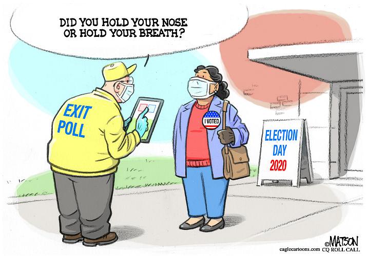 Editorial cartoon (1): Nov. 4, 2020