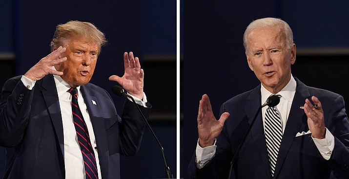 In this combination image of two photos showing both President Donald Trump, left, and former Vice President Joe Biden. (Patrick Semansky/AP, file)