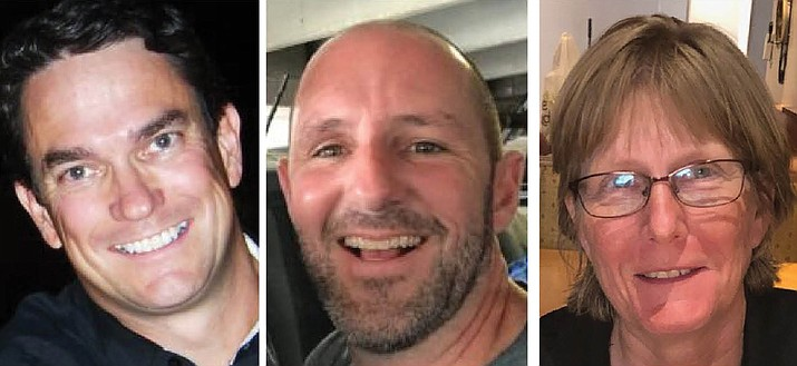 The Prescott Unified School District Governing Board will welcome back incumbent John Mackin, middle, for a third, four-year term and two newcomers, Anthony Fraher, left, and Kara Woods for similar four-year terms. (Courier file photos)