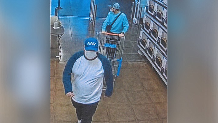 Kingman police are searching for these men in a credit card fraud case. (Courtesy photo)