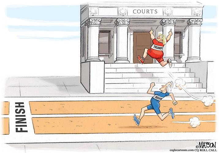 Editorial cartoon (1): Nov. 6, 2020