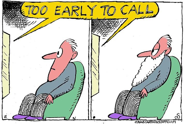 Editorial cartoon (2): Nov. 7, 2020
