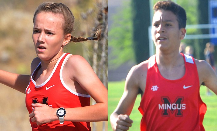Mingus sophomores Makena Bliss and Cesar Diaz both finished seventh in Thursday's league championships to qualify for the Nov. 12 state championship race. VVN file photos