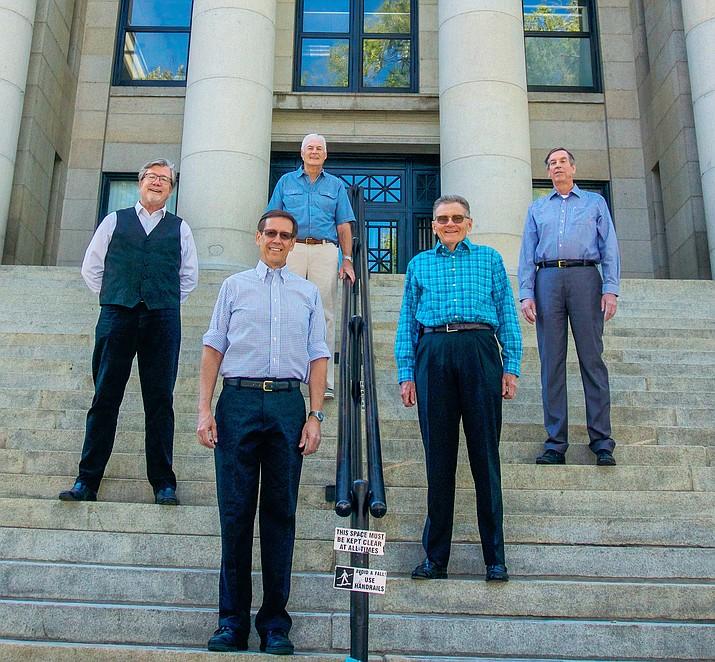 From left, SCORE Northern Arizona Chapter Leadership Team — Logan Enright, Mark Gruen, Dick Milon, Joe Jenkins and Terry Fearn. (Courtesy)